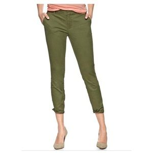 Khakis by Gap Skinny Mini Green, Size 6